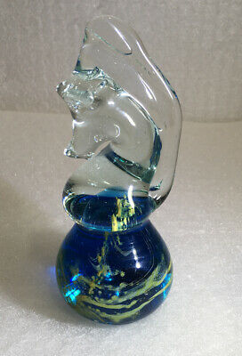 Mdina Seahorse Vintage Glass Paperweight • 3.40£