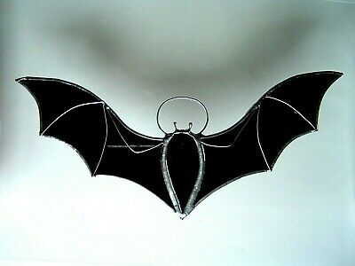 Vampire BAT Stained Glass Suncatcher Window Wall Hanging Gothic Halloween Gift • 15.99£