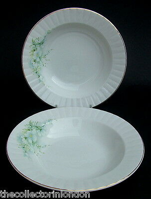 TWO Royal Stafford Blossom Time Rimmed Soup Pasta Dessert Plates Bowls 21cm VGC • 5.95£