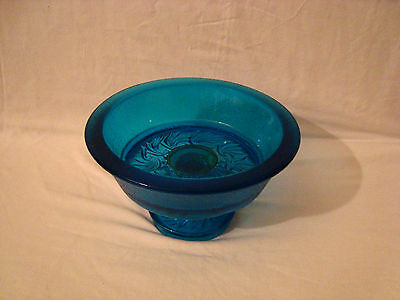 Rare Vintage Blue Crackle Glass Bowl • 7.51£