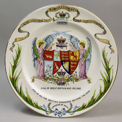 Shelley Porcelain George V 1911 Coronation Cabinet Plate • 43£