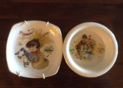 Two Small Vintage Dishes By Midwinter & Carlton Ware • 4.99£