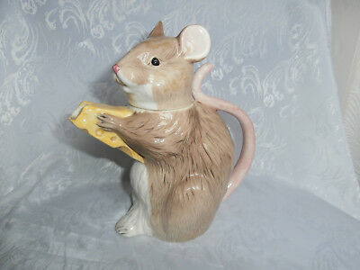 Beswick Vintage Glazed Porcelain Mouse / Rat With Cheese Decorative Teapot Rare • 70£