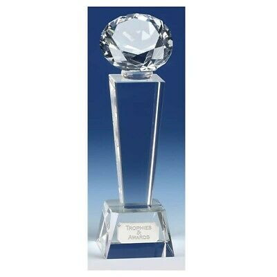 Phoenix Diamond Crystal Award Trophy FREE ENGRAVING, GIFT BOX & DELIVERY 3 Sizes • 27.99£