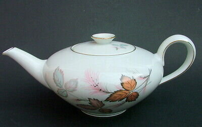 1970's Thomas China Autumn Leaves Pattern 1.5pt Teapot &  Lid 11cmh Looks In VGC • 24.95£