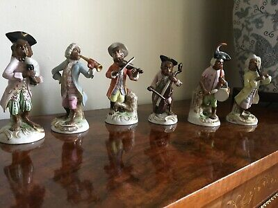 The Monkey Band By Sitzendorf Comprising Of Six Porcelain Figurines • 400£