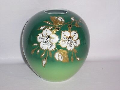 Hand Painted Goldrelief  Porcelain Vase By Wallendorf.  • 32.50£