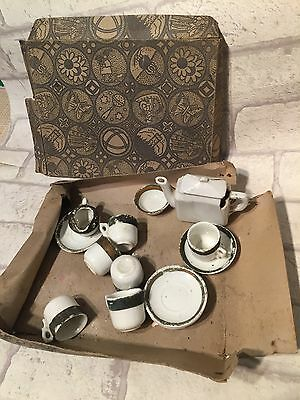Early Antique Childs Toy Miniature China Tea Set  • 7£