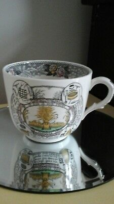 Vintage Adams  The Farmers Arms  Oversized Coloured Tea Cup • 12£