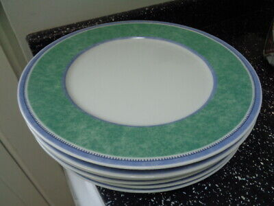 Villeroy & Boch Switch 3 Costa Dinner Plates X 6 • 75£