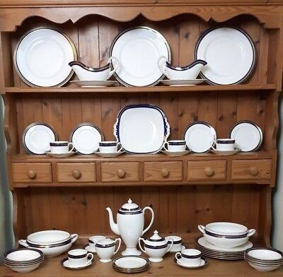 Coalport Blue Wheat - Wedgwood Stanton Bone China Dinner Coffee Set Excellent • 24£