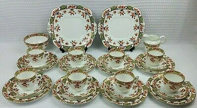 Sutherland China 28 Piece Bone China Tea Set - Floral Imari Colours Vintage VGC  • 68£