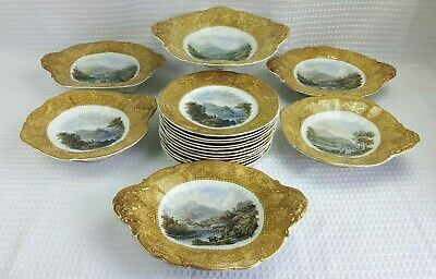 Antique Prattware Dessert Serving- Plates Comports Tazza - Sold Individually • 24£