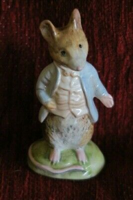 Beatrix Potter Beswick Johnny Town Mouse Gold Oval BP-2A • 44.99£