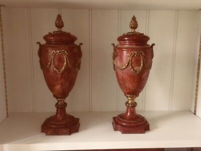 Pair Of 18th Century French Marble And Ormolu Antique Urns Or Cassolettes • 500£