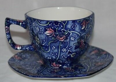 Blue Chintz Pattern Fine China Cup And Saucer Set - Boxed • 19.99£