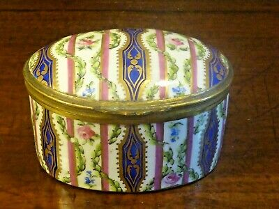 ANTIQUE Sevres/Sevres Style HAND PAINTED TRINKET/PILL BOX - 3   • 99.95£