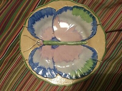 Hancock Hand Painted Butterfly Plate • 45£