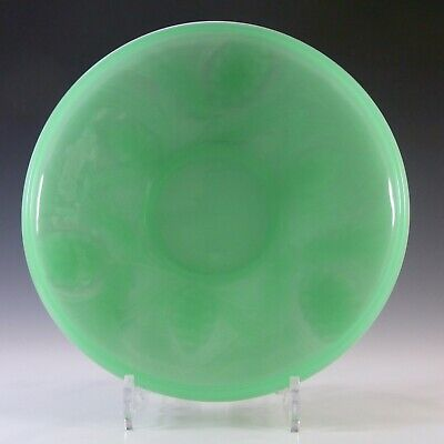 Jobling Art Deco Uranium Jade Green Glass Fircone Bowl • 45£