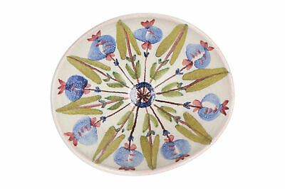 A Swedish Art Pottery Bowl Hand Painted Floral Mid Century • 30£