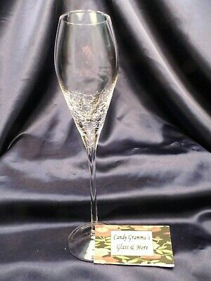 Pier 1 Clear Champagne Flute Glass Crackle 10  • 14.95£