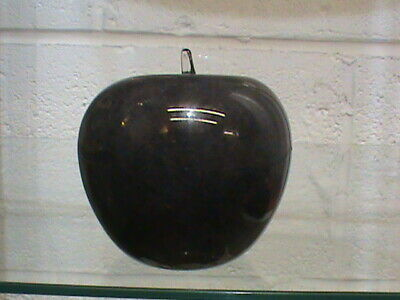 Wedgwood Glass Gray Apple Paperweight Ornament  • 20£