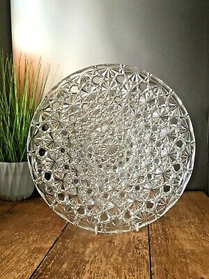 Stunning Large 13  French Crystal Glass Centrepiece Fruit Bowl Marked France • 55£