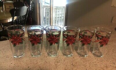 6 Poinsetta Tumblers - KIG Indonesia  • 21.67£