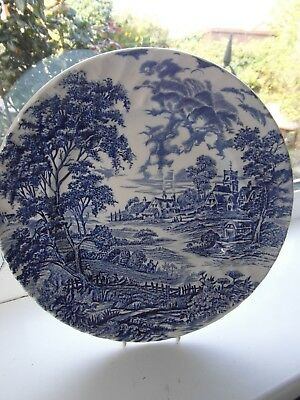 Ridgway Meadowsweet Luncheon Plate 25 Cm Blue White Vintage British • 9.50£