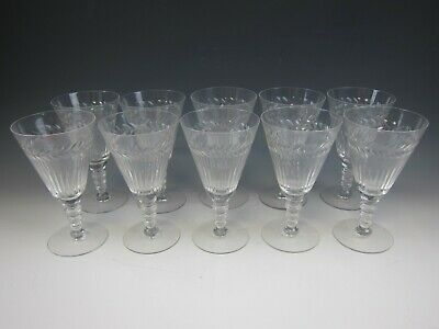 Lot Of 10 Tiffin Crystal ATHLONE Water Goblets EXCELLENT • 73.32£