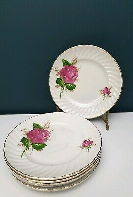 Vintage Ridgway England Ironstone Alicia Anniversary Rose Floral Dinner Plate  • 7.99£