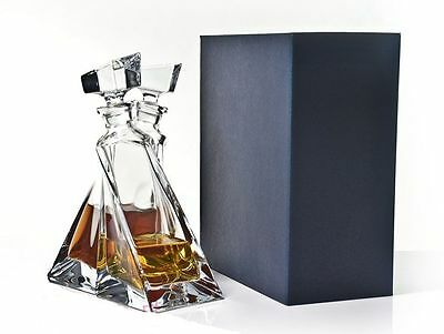 Clear Bohemian Crystal Glass  Lovers   Decanter Gift Set, Transparent  • 74.99£