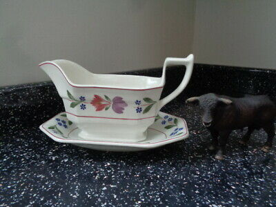 Adams Old Colonial Gravy Boat And Stand • 12.50£