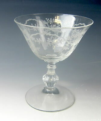 Fostoria Crystal CORSAGE-CLEAR Low Sherbet(s) EXCELLENT • 7.66£