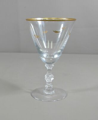 Reduced! Duncan & Miller Glass GOLD LAHME Water Goblet(s) Excellent Condition • 6.05£