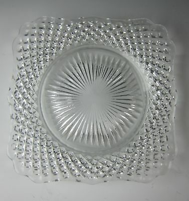 Westmoreland ENGLISH HOBNAIL-CLEAR Square Bread & Butter Plate(s) EXCELLENT • 4.94£