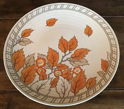 1930's Crown Ducal 'Autumn Leaves' Charger, Signed Charlotte Rhead. • 95£