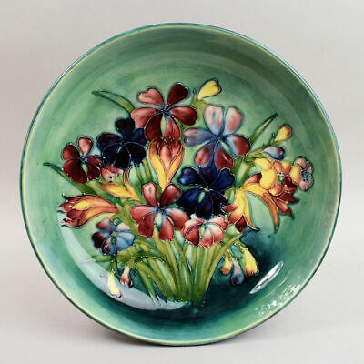 Large Moorcroft Art Pottery Bowl 'spring Flowers' C.1950 • 260£