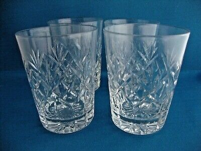 4 X Thomas Webb Crystal Tumblers C1906-1935 - Signed • 19.95£
