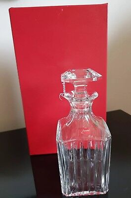 Baccarat Crystal  Harmonie Whisky  Decanter.  Square. Original Gift Box  • 725£