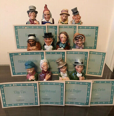 12 X Franklin Mint CHARLES DICKENS CANDLE SNUFFERS • 85£