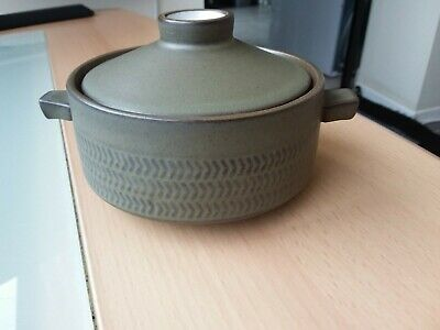 Heavy Quality Denby Stoneware Pot With Handles And Lid • 5.50£