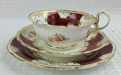 Antique Redfern & Drakeford Balmoral Bone China Floral Tea Trio 2/4 • 12£