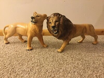 Beswick Lion And Lioness • 65£