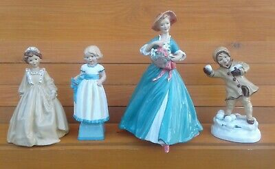 Royal Worcester - Selection Of Hand Painted Blanc De Chine Figurines. • 14.99£