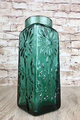 Vintage Dartington Green Marguerite Vase Thrower FT228 Art Glass Daisy Thrower • 22.99£
