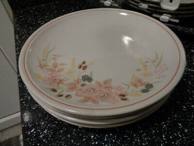 Boots Hedge Rose Dinner Plates X 4 • 30£