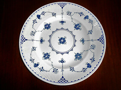 Blue & White Furnivals Denmark Dinner Plate 10 Inch Vintage Small Imperfections • 21.90£