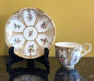 Antique Coalport Cup And Saucer - Circa Early-mid 1800 • 79£