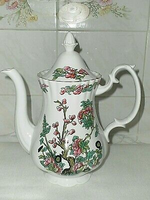 English Fine China Coffee Pot  Indian Tree  Mint Condition • 10£